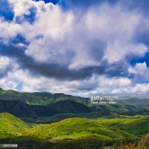 scenic view of landscape against sky,thousand oaks,california,united states,usa - thousand oaks - fotografias e filmes do acervo