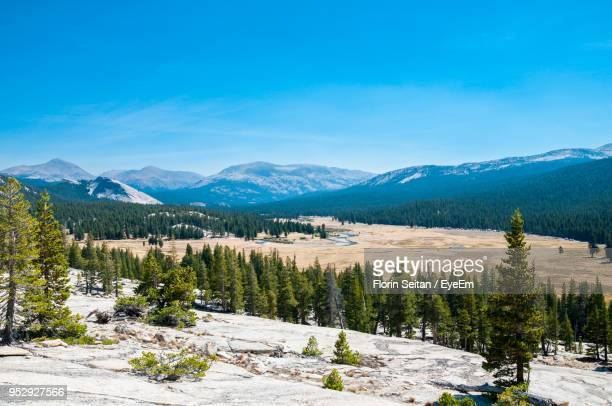 scenic view of landscape and mountains against blue sky - florin seitan stock pictures, royalty-free photos & images