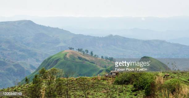 scenic view of landscape and mountains against sky - cameroon stock pictures, royalty-free photos & images