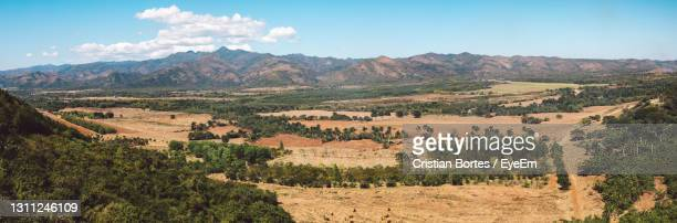 scenic view of landscape and mountains against sky - bortes stock pictures, royalty-free photos & images
