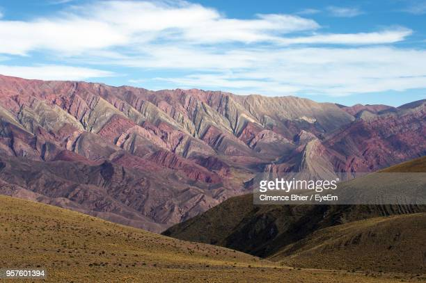 scenic view of landscape and mountains against sky - salta argentina stock photos and pictures