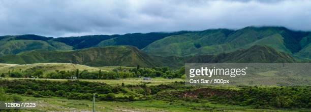 scenic view of landscape and mountains against sky,catamarca,argentina - cari stock pictures, royalty-free photos & images