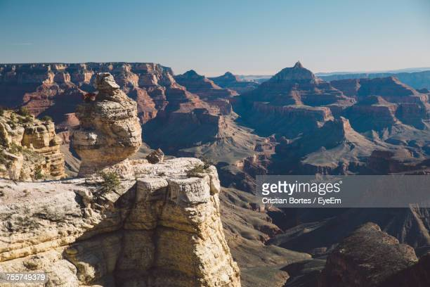 scenic view of landscape at grand canyon national park - grand canyon village stock photos and pictures