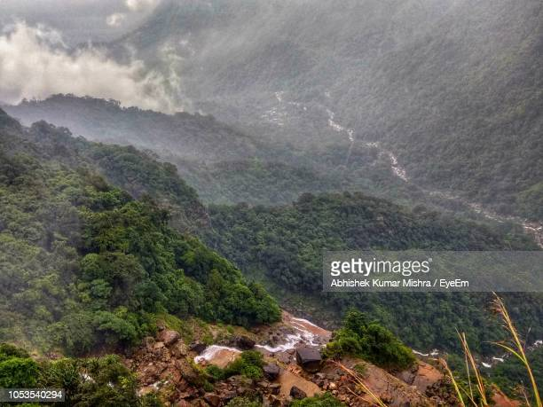 Scenic View Of Landscape During Rainy Season