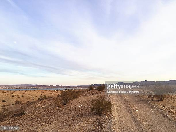 scenic view of landscape  - lake havasu stock photos and pictures