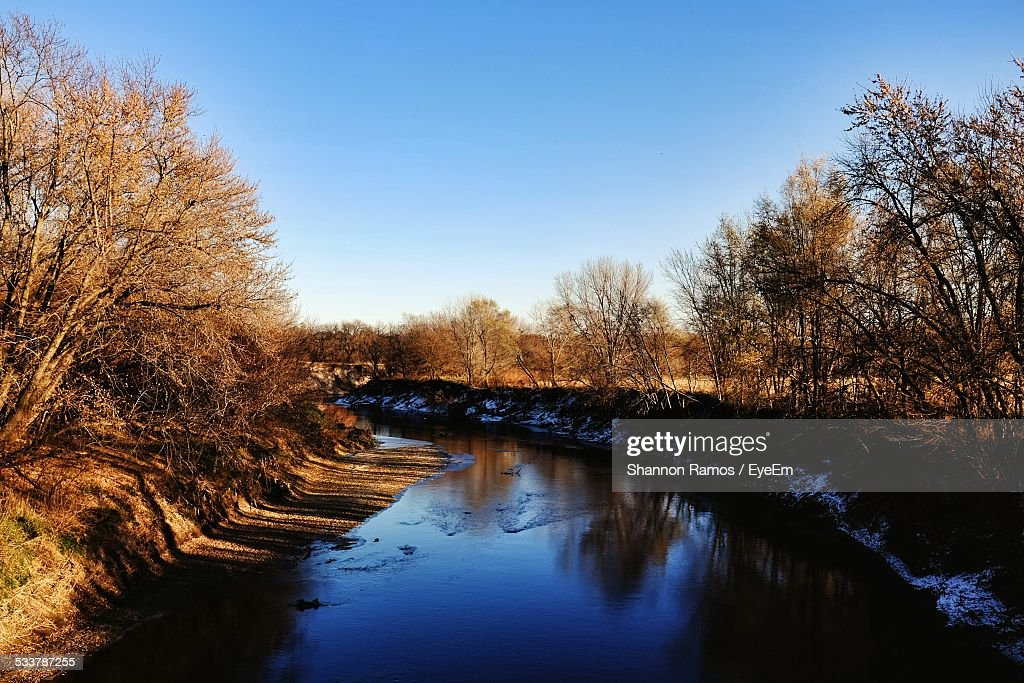 Scenic View Of Landscape With River : Foto stock