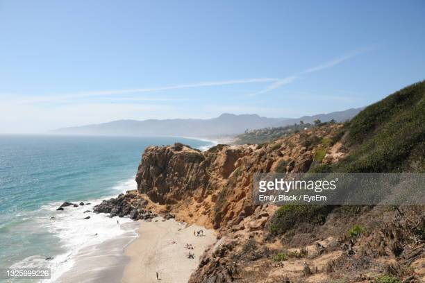 scenic view of malibu coast - malibu stock pictures, royalty-free photos & images