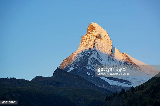 Scenic View Of Matterhorn Mountain Against Clear Sky