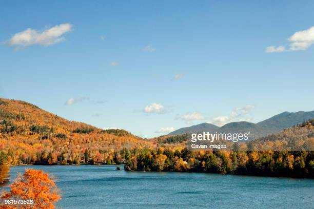 scenic view of mirror lake against sky - mirror lake stock pictures, royalty-free photos & images