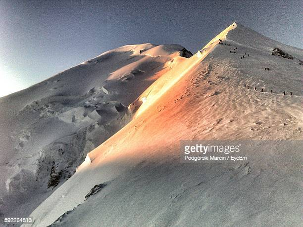 Scenic View Of Mont Blanc Against Sky During Sunrise