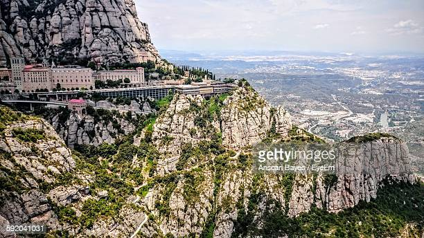 Scenic View Of Montserrat Mountains