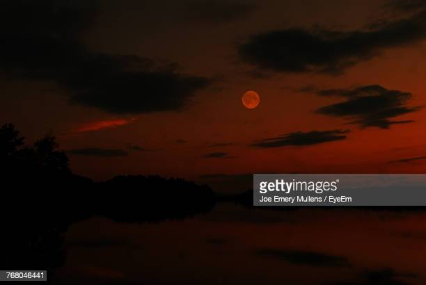 scenic view of moon at night - emery stock photos and pictures