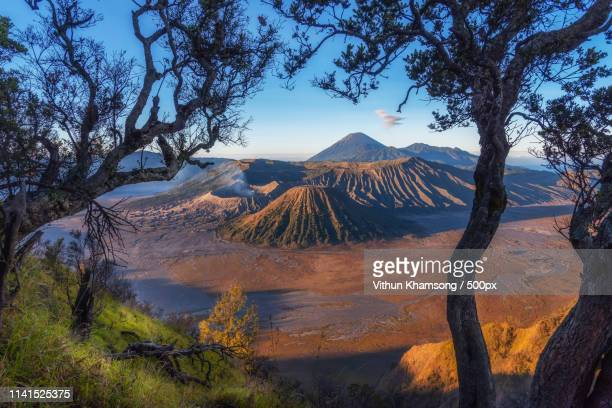 scenic view of mount bromo - east java province stock pictures, royalty-free photos & images