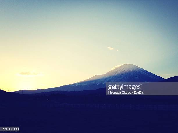 Scenic View Of Mount Fuji Against Sky