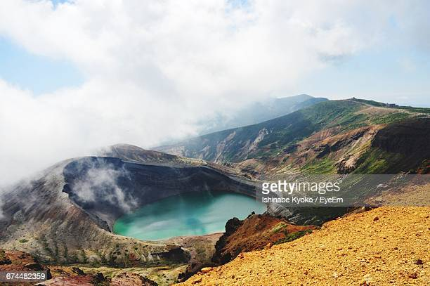 Scenic View Of Mount Zao Against Sky