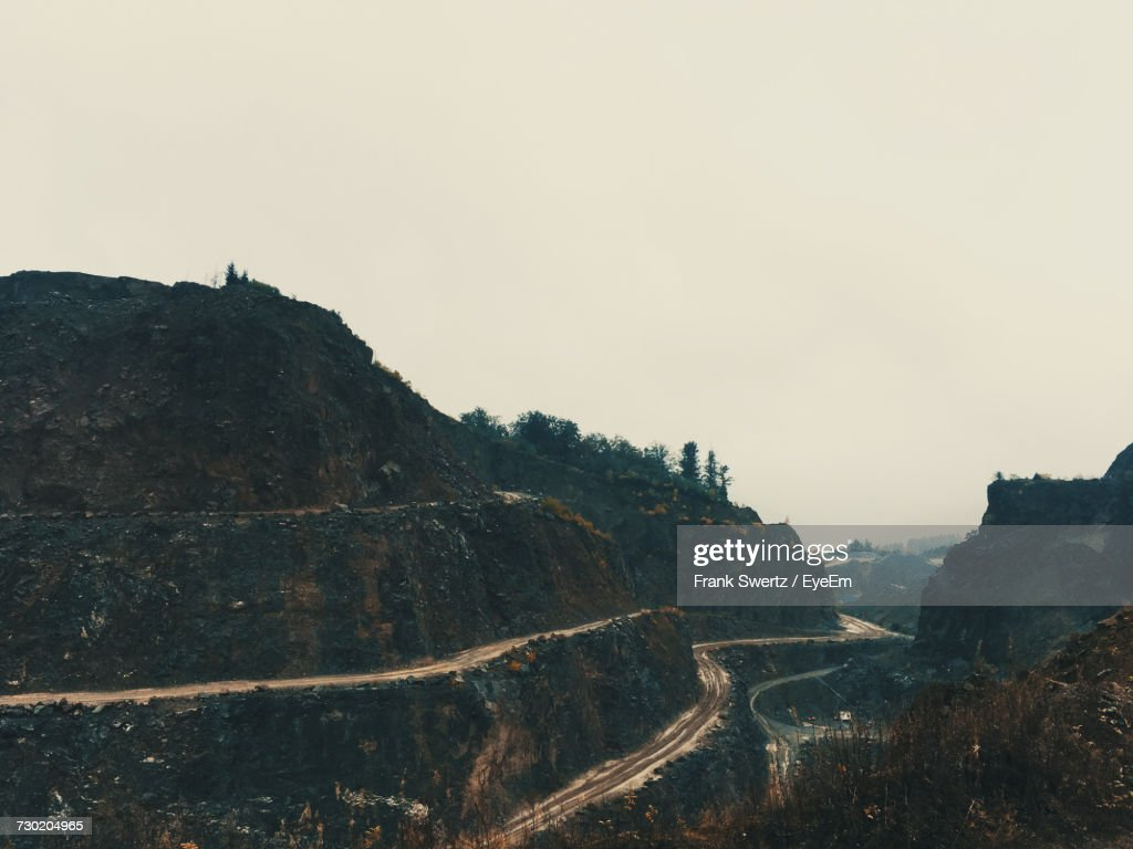 Scenic View Of Mountain Against Clear Sky : Stock-Foto