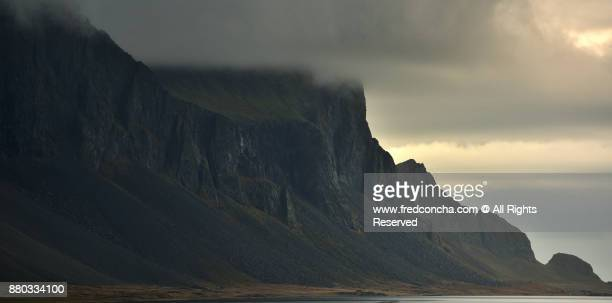 Scenic View Of Mountain Against Cloudy Sky in Iceland