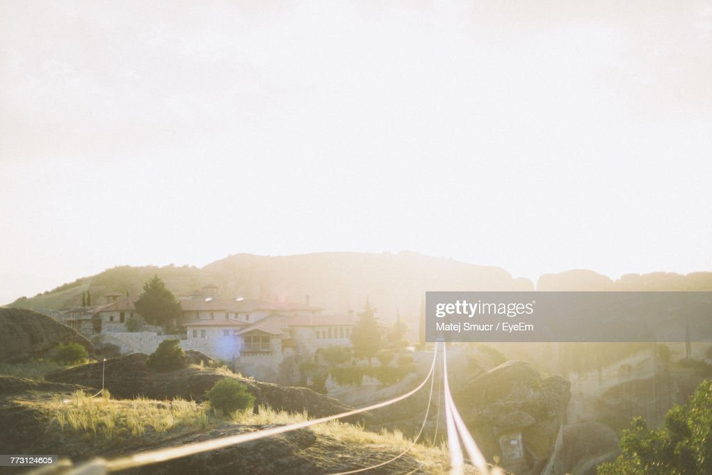 Scenic View Of Mountain Against Sky During Sunny Day : Photo
