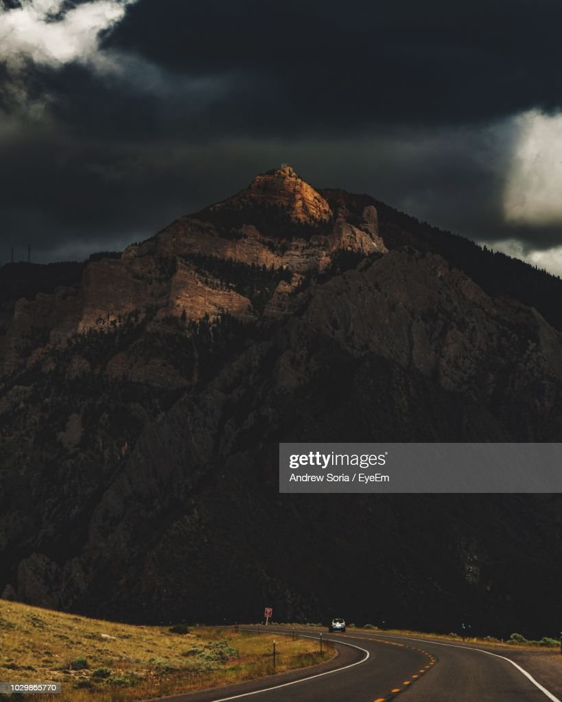 Scenic View Of Mountain Against Sky : Stock Photo