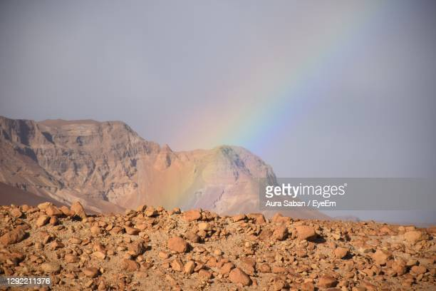 scenic view of mountain against sky - netanya stock pictures, royalty-free photos & images