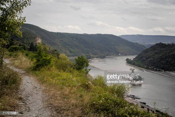 scenic view of mountain against sky - albrecht schlotter stock photos and pictures