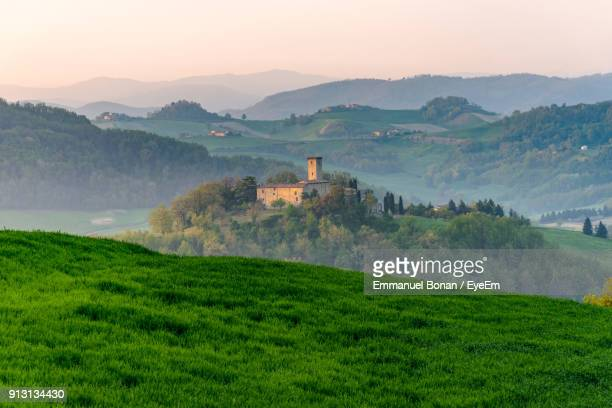 scenic view of mountain against sky - emilia romagna stock photos and pictures
