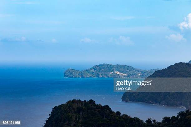 Scenic View Of Mountain By Sea Against Sky, Trinidad