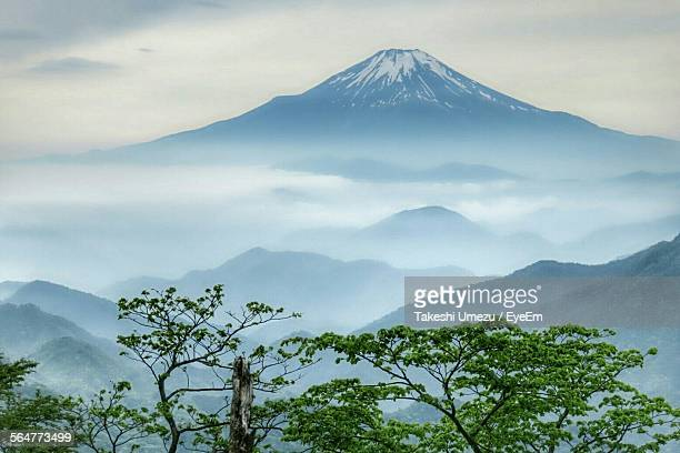 Scenic View Of Mountain In Misty Morning