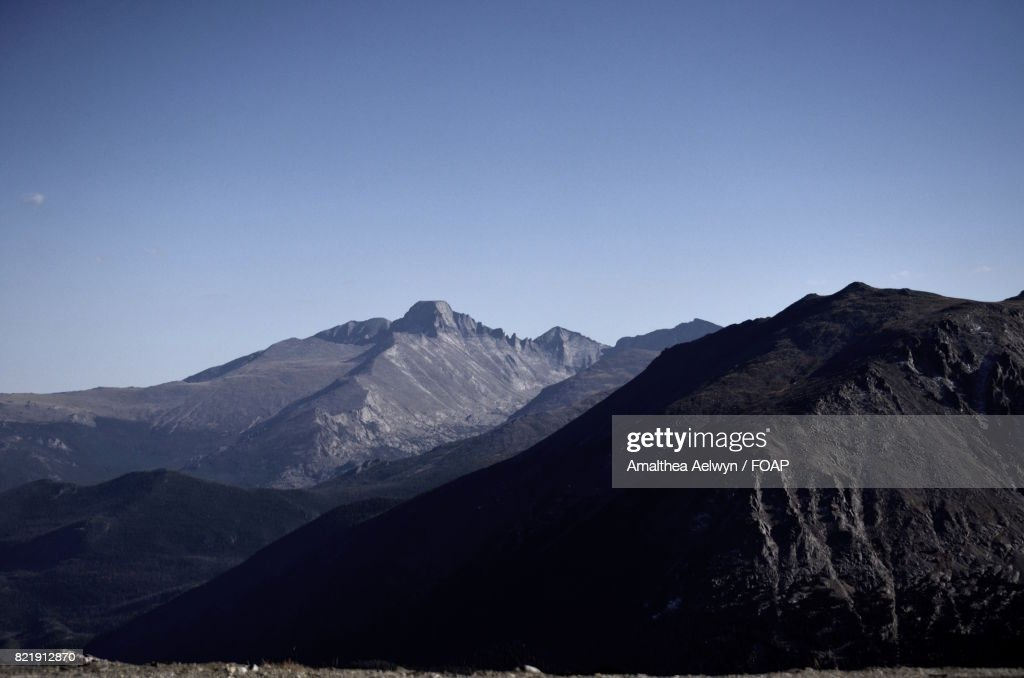 Scenic view of mountain peak : Stock Photo
