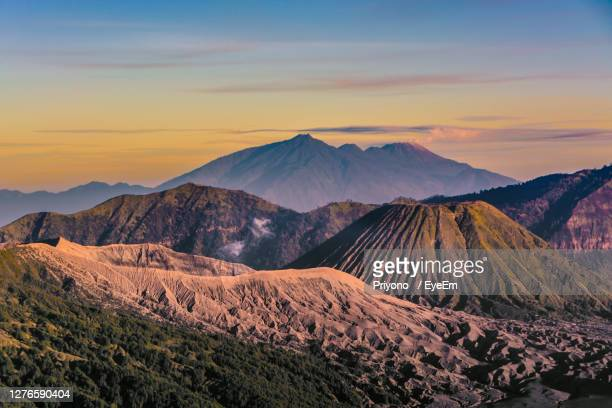 scenic view of mountain range against sky during sunset - b 29機 ストックフォトと画像
