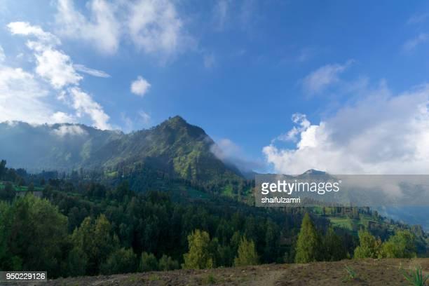 scenic view of mountain range at bromo tengger semeru national park, east java of indonesia. - shaifulzamri 個照片及圖片檔