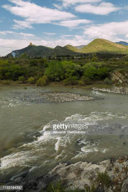Scenic view of mountain river