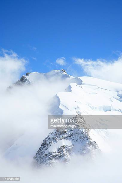 Scenic view of mountain top full of snow