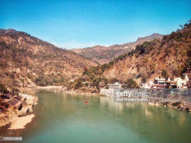 scenic view of mountains against clear blue sky - haridwar stock pictures, royalty-free photos & images