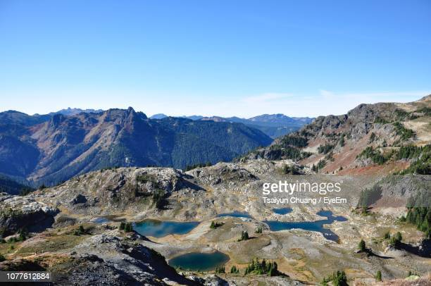 scenic view of mountains against clear blue sky - indiana stock pictures, royalty-free photos & images