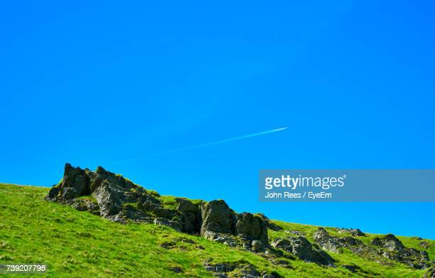 scenic view of mountains against clear blue sky - bethesda maryland stock pictures, royalty-free photos & images