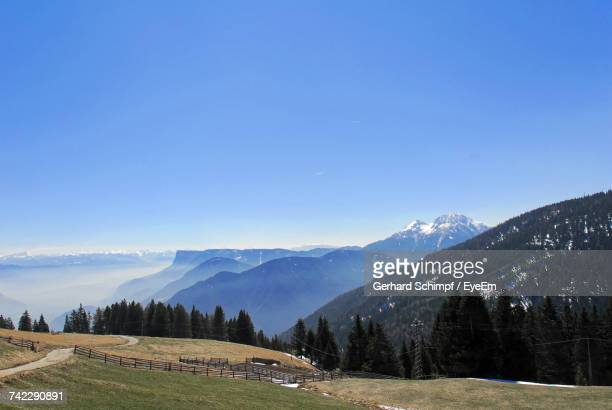 scenic view of mountains against clear blue sky - gerhard schimpf stock pictures, royalty-free photos & images