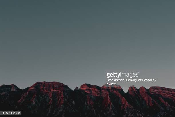scenic view of mountains against clear sky at dusk - nuevo leon state stock pictures, royalty-free photos & images