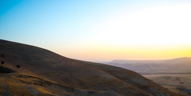 Scenic view of mountains against clear sky during sunset,Fes,Morocco