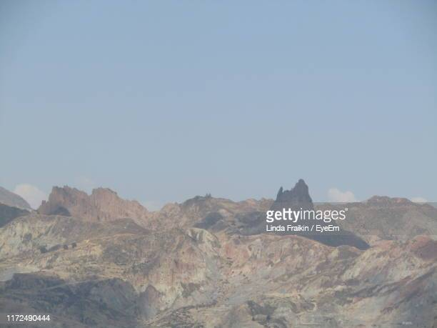 scenic view of mountains against clear sky - linda fraikin stock pictures, royalty-free photos & images