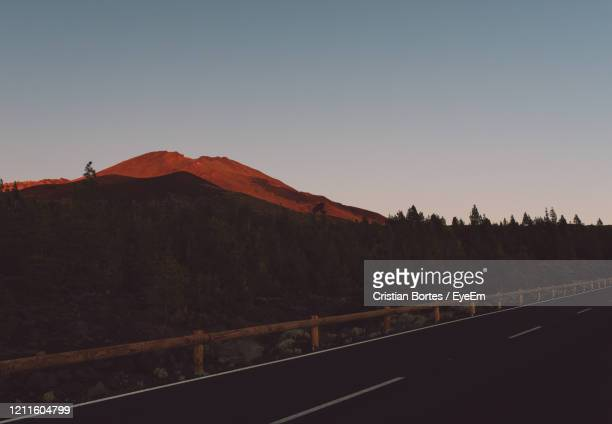 scenic view of mountains against clear sky - bortes stock pictures, royalty-free photos & images