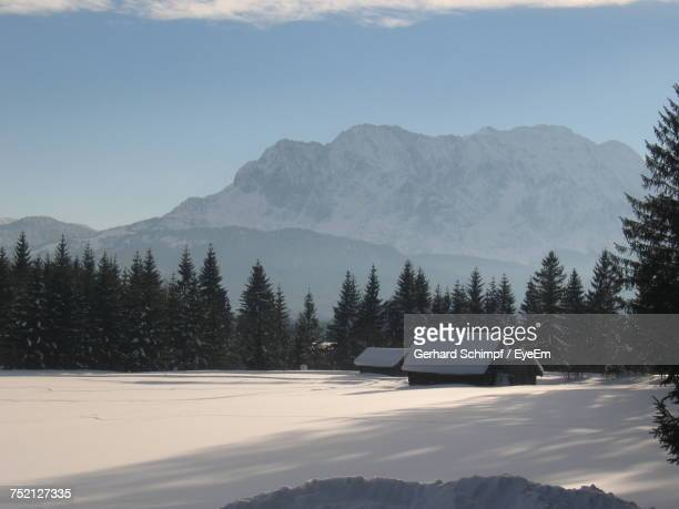 scenic view of mountains against clear sky - gerhard schimpf stock photos and pictures
