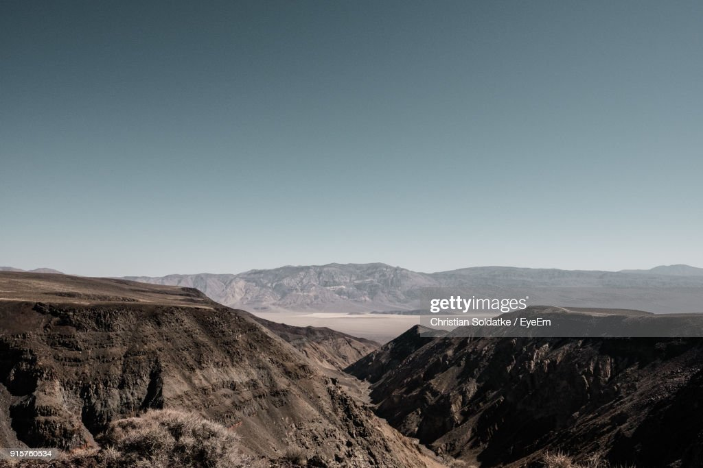 Scenic View Of Mountains Against Clear Sky : Stock-Foto