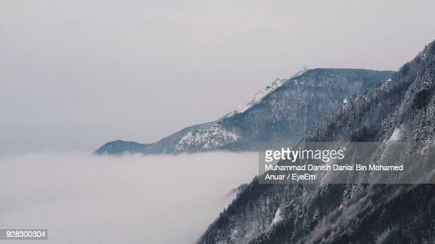 scenic view of mountains against clear sky - chilly bin stock photos and pictures