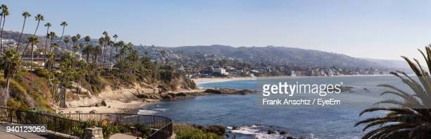 scenic view of mountains against clear sky - laguna beach california stock pictures, royalty-free photos & images