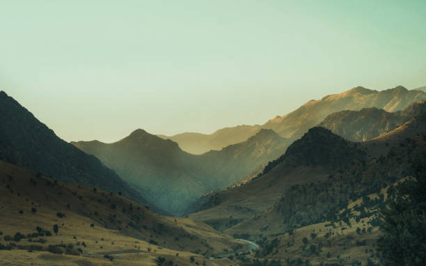 Scenic view of mountains against clear sky,Kurdistan Region,Iraq