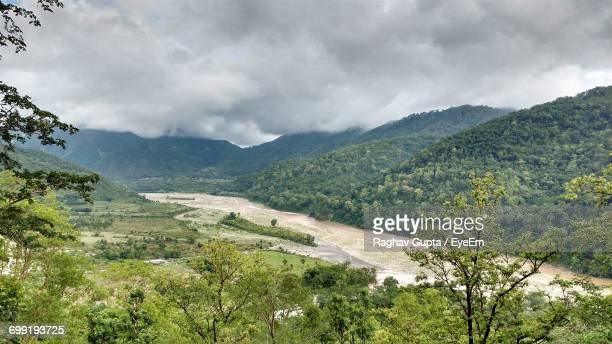 scenic view of mountains against cloudy sky - punjab india stock pictures, royalty-free photos & images