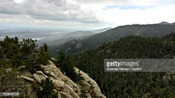 scenic view of mountains against cloudy sky - fort collins stock pictures, royalty-free photos & images