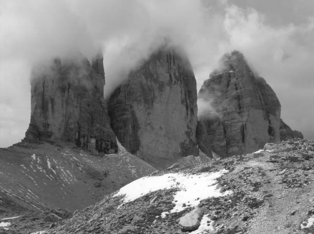 Scenic View Of Mountains Against Sky And Clouds - Dolomiti Italy