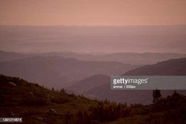 scenic view of mountains against sky during sunset - モンシケ ストックフォトと画像